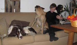 Max och tjejerna - julafton 2008